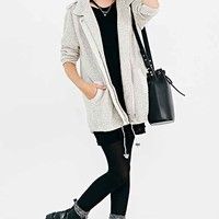 State Of Being Backloop Hooded Parka Jacket- Ivory