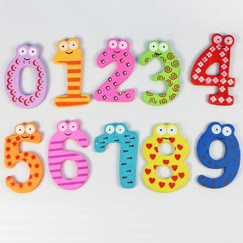 Customized Magnetic Wooden Numbers Math Set for Kids Children Preschool Home School Daycare Free Shipping Vee_Mall
