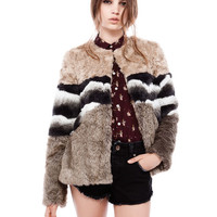 CONTRASTING FAUX FUR CROPPED COAT - NEW PRODUCTS - WOMAN - PULL&BEAR United Kingdom