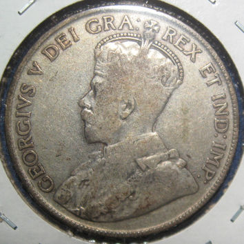 1920 Canada  King George the V Nice Silver Half Dollar Canadian 50 Cent Low Mintage Coin KM25a