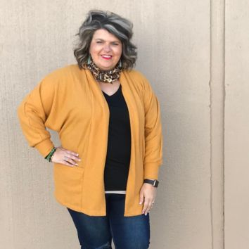 Mustard Cardigan with Pockets
