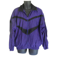 Men Windbreaker Jacket90s Windbreaker 80s Windbreaker Purple Jacket Nylon Jacket Retro Windbreaker Men Jacket Spring Jacket Light Jacket