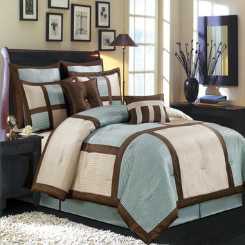 Morgan Blue Luxury 8-Piece Comforter Set