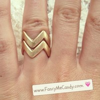 Zig Zag Stack Rings from Fancy Me Candy