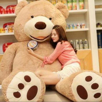 200cm Soft American Giant Bear Skin Bear Toy Big Animals Bears Coat For GirlFriend Valentine's Day Gift Animal Teddy Bear Coats