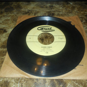 Vintage Vinyl Record 45 RPM Chris Powell - Mr. Sandman - Mambo Gunch - 45 RPM