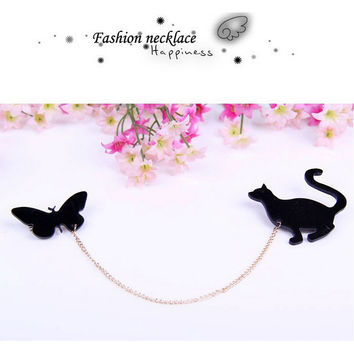 For Women Hotsale able Creative Brooch Fruit Squirrel Birds Butterflies Cat Brooches Pins SM6