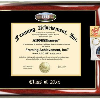 AllGiftFrames Custom Diploma Frame Embossed Best GSU Graduation Degree Frame Double Mat Georgia Southern University Campus Fisheye Picture Frame Cheap Degree Gift