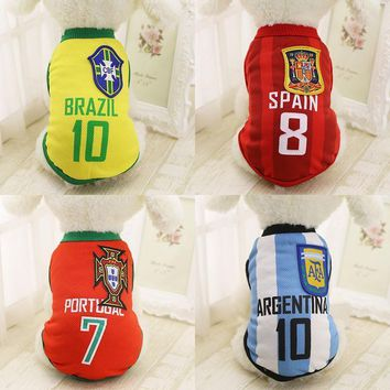 Soccer Jersey Vest for Dog /Cat