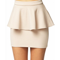 Quilted Peplum Skirt