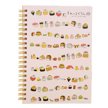 Kawaii Japan cartoon Rilakkuma & Sumikkogurashi Coil notebook/Diary agenda/pocket book/office school supplies Sushi