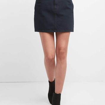 High rise denim mini skirt | Gap