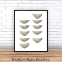 Abstract Art Print, Printable Art, Mid Century, Scandinavian Design, Geometric Art, Minimalist Art, Abstract Wall Art, Digital Download