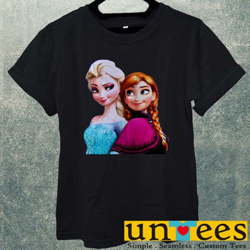 Low Price Men's Adult T-Shirt - Elsa and Anna Frozen Christmas Disney Princces design