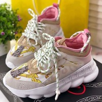 Versace Chain Reaction Newest Hot Sale Casual Running Sneakers Sport Shoes