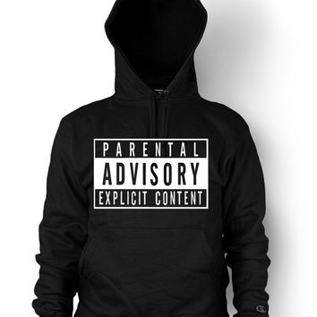 Parental Advisory Explicit Content Funny Hip Hop Black T-shirt