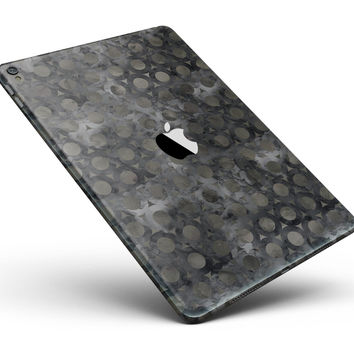 """Black Watercolor Ring Pattern Full Body Skin for the iPad Pro (12.9"""" or 9.7"""" available)"""