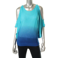 INC Womens Dip-Dye Stretch Knit Top