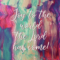 Joy to the World #painting #Christmas by Andrea Anderegg Photography