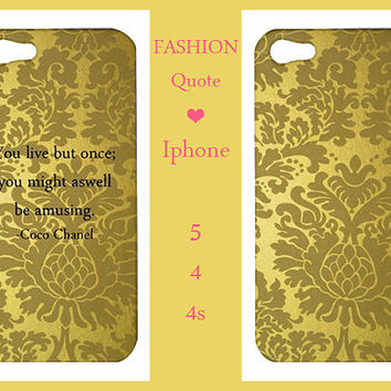 Iphone 5/4/4s Case-Fashion Quote Case- Fashion Iphone 5,Iphone 5 case,Iphone 4/4s case,Iphone 5 cover,Iphone 4/4s cover,Iphone 5/4/4s-gold