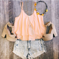 Highlight Of My Day Top - Peach