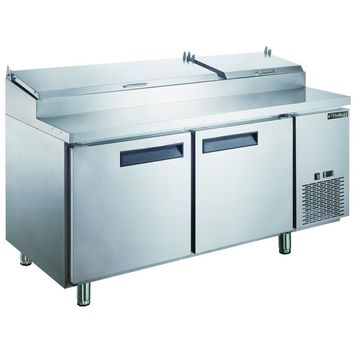 Commercial Kitchen Refrigerated Pizza Prep Table 70""