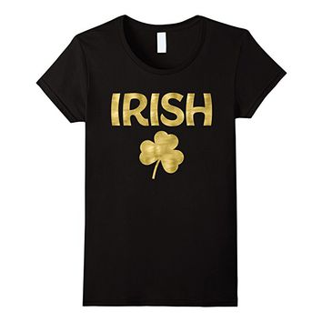 St Patricks Day Shirts Golden Irish Shamrock