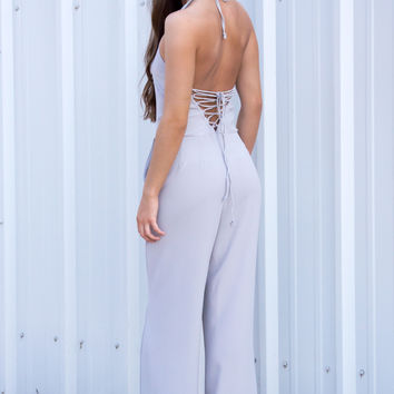 Sasha Lace Up Jumpsuit