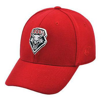 Licensed New Mexico Lobos Official L/XL NCAA One Fit Wool Hat Cap by TOW 253763 KO_19_1