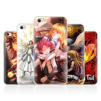 Fairy Tail Natsu Lucy Erza anime Phone Case Shell Cover For Xiaomi Redmi Note 4 4X 5A 6 6A PRO Mi 8 5 5S PLUS Max A1 Note 2 3