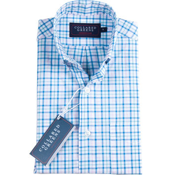 The Grove Button Down Blue/Teal/Pink