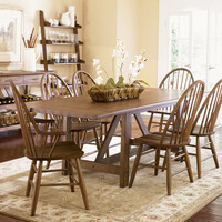 Liberty Furniture Farmhouse Extendable Dining Table