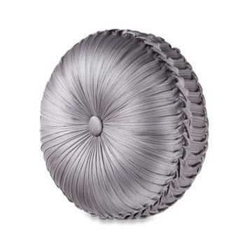 J. Queen New York™ Luxembourg Tufted Round Toss Pillow in Antique Silver