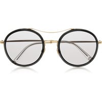 Gucci - Round-frame acetate and metal sunglasses