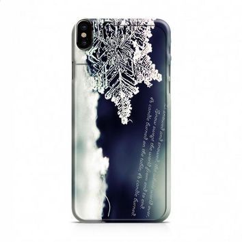 BABY IT'S COLD OUTSIDE SNOWFLAKE QUOTES 2 iPhone X case