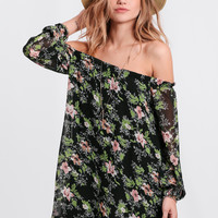 Geneva Floral Off-Shoulder Dress
