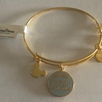 Disney Parks Cinderella Dream Charm Bracelet Alex & Ani Gold New With Tags