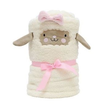 Department 56 Snowpinions Lamb Snow Throw Plush Blanket 45-in x 60-in