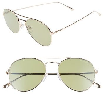 Tom Ford Ace 55mm Stainless Steel Aviator Sunglasses | Nordstrom