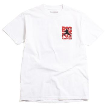 PLEASURES x Big Pun - Stats T-Shirt White