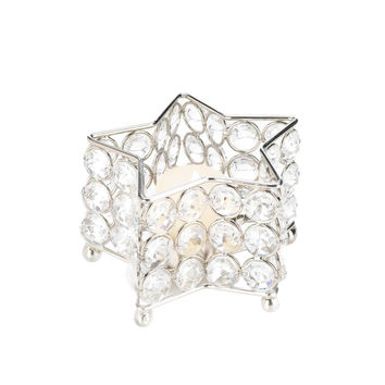 Wedding: Crystal Star Candle Holder