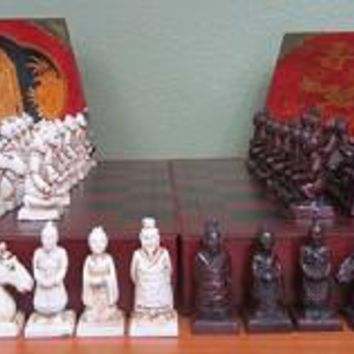 Terracotta Warriors Mini Travel Chess Set Pieces and Board - 8500