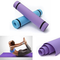 1pcs 6mm Pro Thick Yoga Mat Pad Non-Slip Lose Weight Body Building Exercise Gym Fitness Home Indoor 2 Color To Choose (Color: Purple) [8384273863]