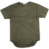 Suede Original Long T-Shirt Olive