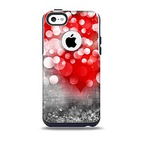 The Bright Unfocused White & Red Love Dots Skin for the iPhone 5c OtterBox Commuter Case