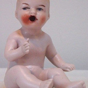 Bisque Baby / Bisque Doll / Piano Baby / German Doll / Porcelain Doll / Baby Figurine / DRGM Doll