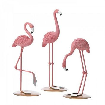 Tabletop Flamingo Decor Trio