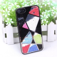 Cool Colourful Sliding Polygon Mirror Hard Cover Case For Iphone 5