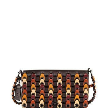 Coach 1941 Dinky Link Colorblock Crossbody Bag, Brown