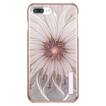 Floral Fantasy, Abstract Modern Pastel Flower Incipio DualPro Shine iPhone 7 Plus Case